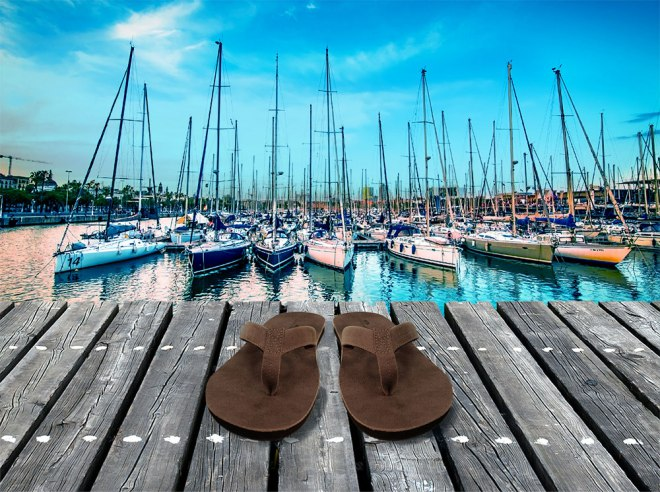 catamaran orthotic flip flop