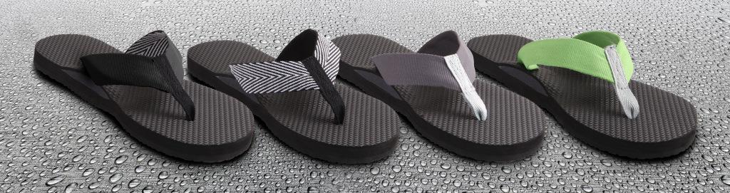 orthotic flip flops waterproof
