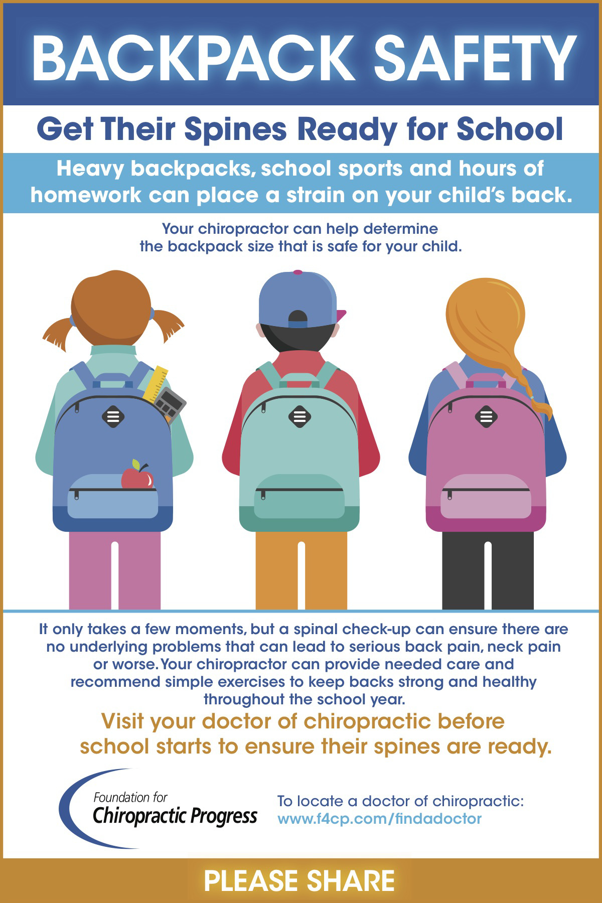 Backpack safety and Chiropractic