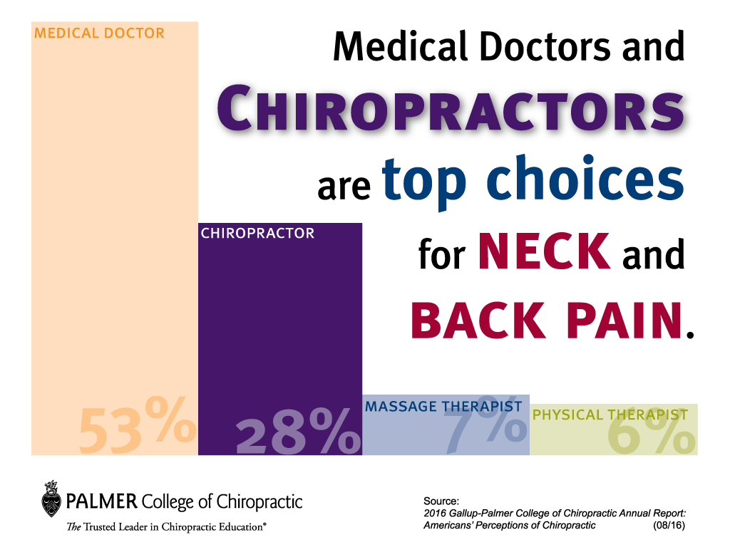 Chiropractors are ranked high for reducing neck and back pain.