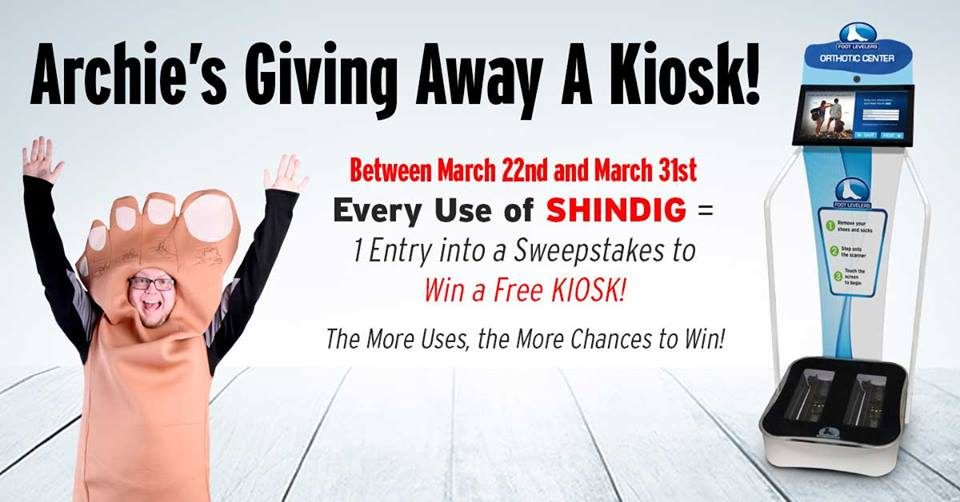 kiosk giveaway