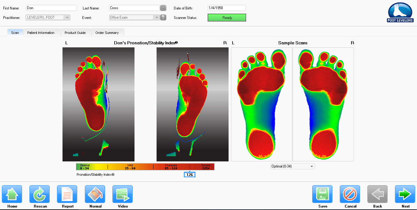 foot scan technology