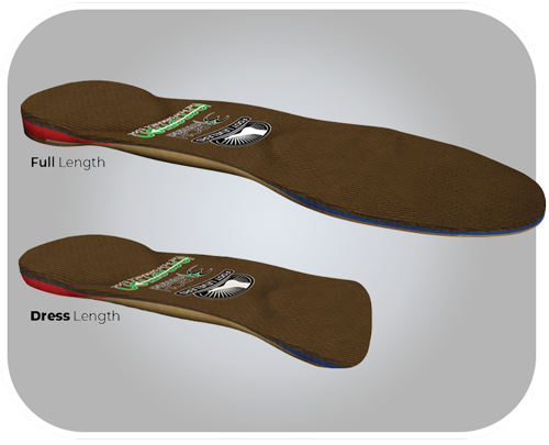 InMotion full and Dress length custom orthotic