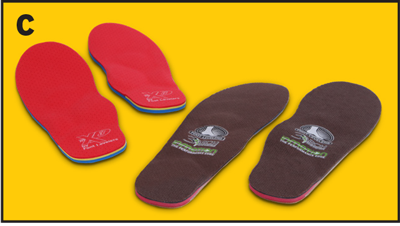 By supporting the feet, orthotics help alleviate pain throughout the body.