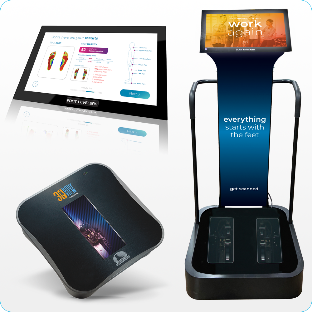 Foot Levelers Kiosk, 3D Body View, and Software