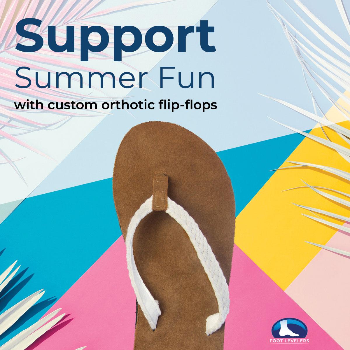 Custom orthotic flip-flops