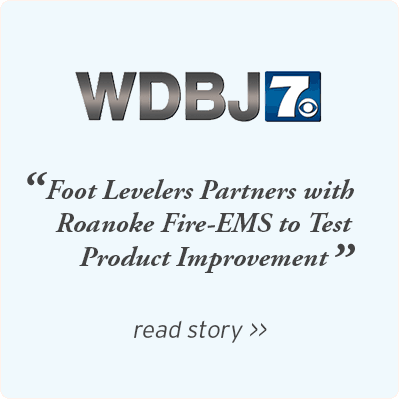 WDBJ7 - Foot Levelers partners with Roanoke Fire EMS to test product improvement