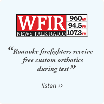 WFIR - Roanoke firefighters receive free custom orthotics during test