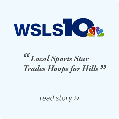 WSLS - Local sports star trades hoops for hills