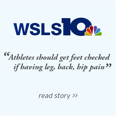 WSLS - Athletes should get feet checked if having leg back hip pain