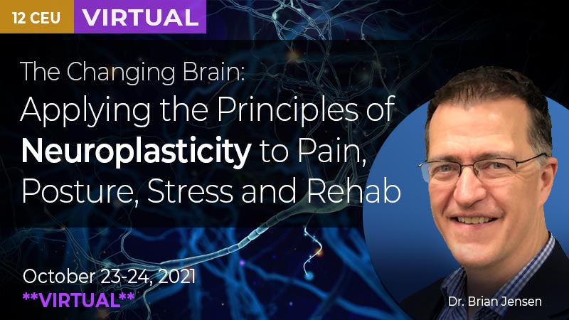 The Changing Brain. Applying the principles of Neuroplasticity to Pain, Posture, Stress and Rehab